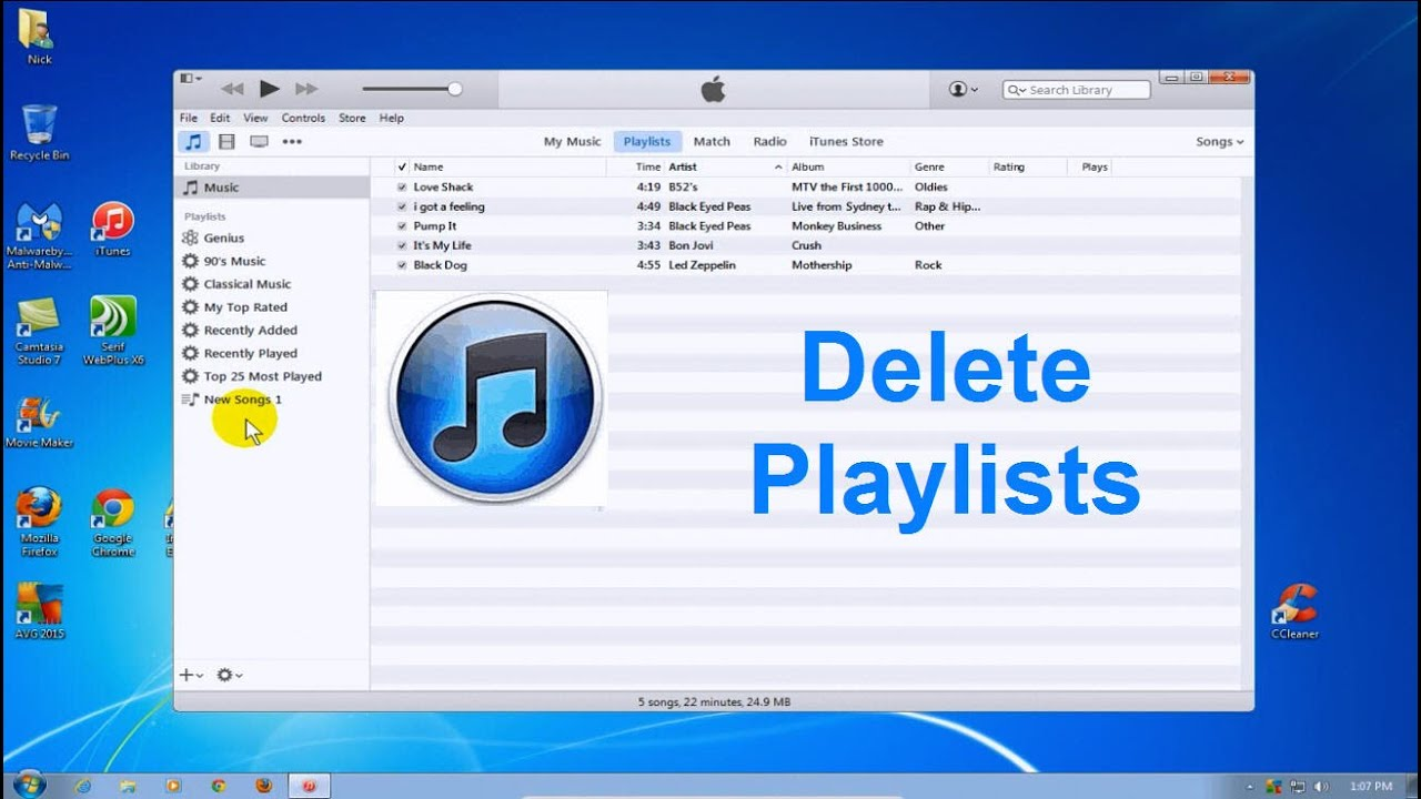 Free And Music Playlist: How To Delete Playlists In ITunes 2015