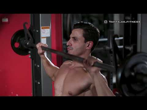 Smith Machine Overhead Shoulder Press (English Voice Over)