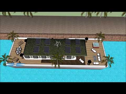 Self sustaining solar powered houseboats in Mumbai INDIA are cheaper than rent floating solution