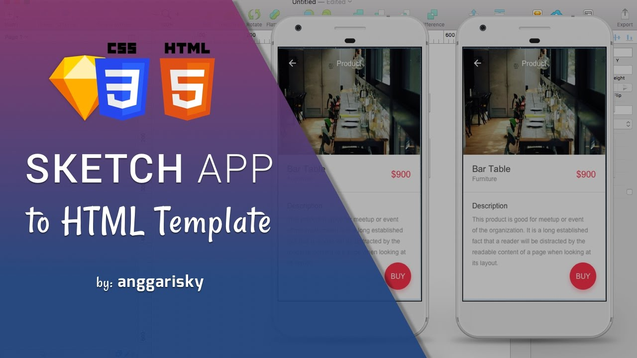 Sketch App UI Design to HTML and CSS Tutorial - YouTube
