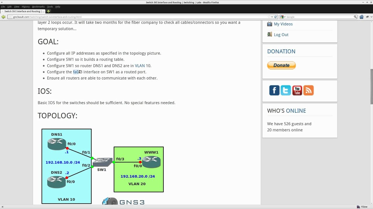 Switch SVI Interface and Routing