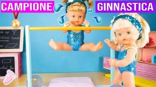 👣 NOA E NOE: Le sorelline bebè fanno ginnastica per 24 ore 🤸♀️! Nuovi bellissimi body 💖| Bambole