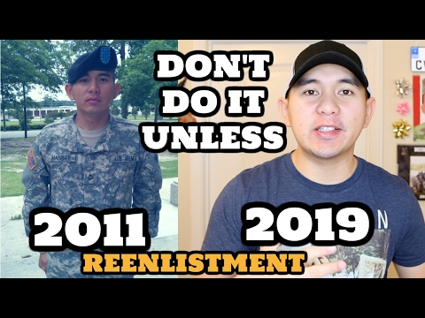 I REENLISTED FOR 6 YEARS...DON'T DO IT UNLESS