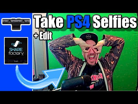 How To TAKE A SELFIE With The PS4 Camera + Photo Editing With Sharefactory