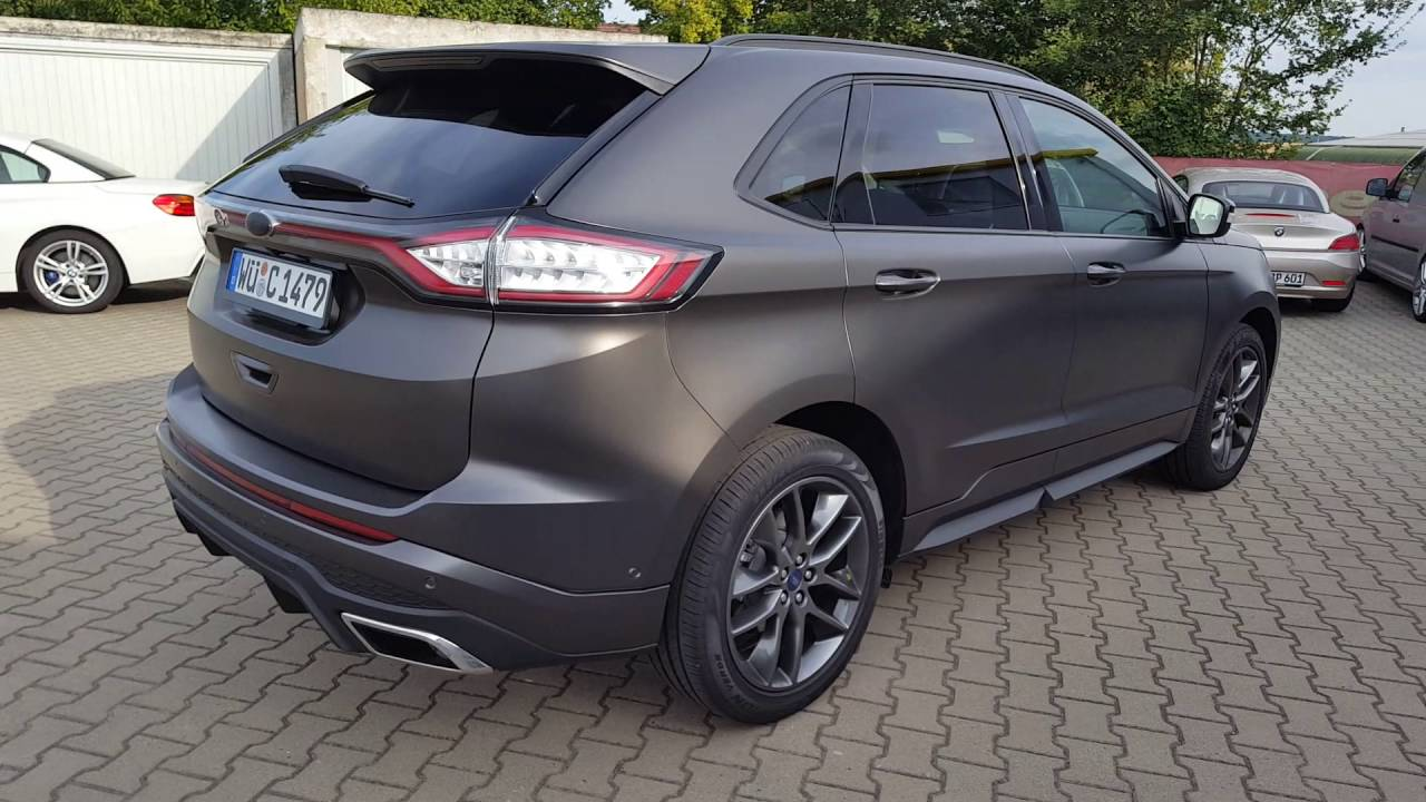 Ford Edge Komplettfolierung in Satin Pearl Nero by CR CarWrapping in Würzburg/Estenfeld - YouTube