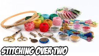 Cross Stitch 101: Stitching over 1 vs Stitching over 2 | Embroidery Tutorial