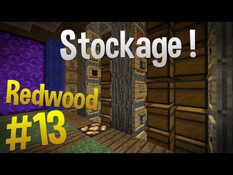 Salle des coffres !   Episode 13 - Serveur Redwood   Minecraft