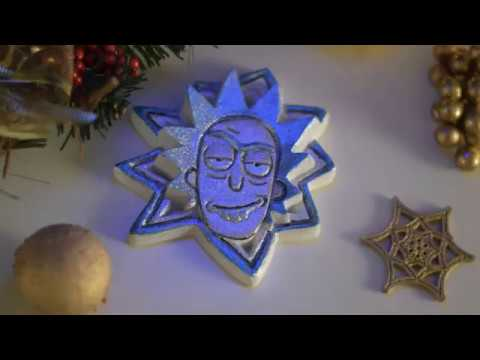 rick sanchez plaster christmas ornament