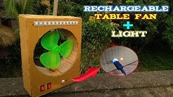 How to make a rechargeable table fan + light