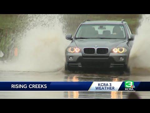 Sacramento County roads flood as storm moves through region