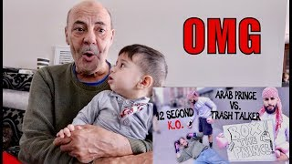 MY DAD REACTS TO MY 12 SECOND KNOCKOUT!!! (BOXING MATCH)