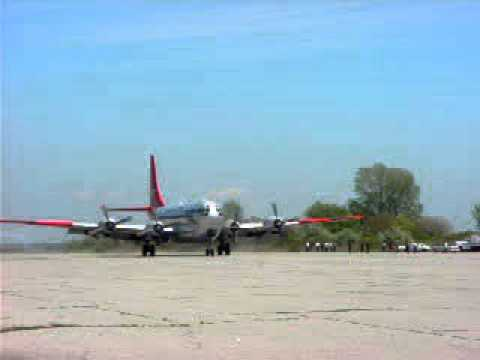 Boeing C-97G Stratofreighter landing at Floyd Bennett Field NY