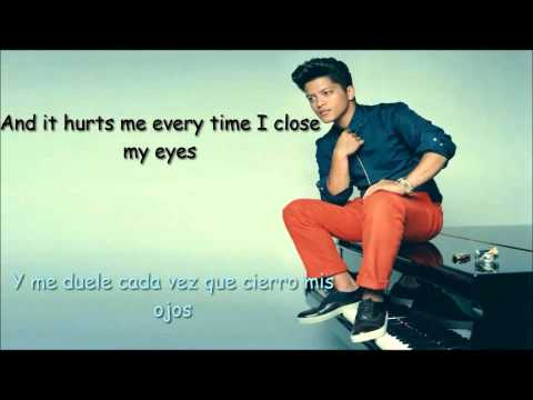 bruno mars when i was your man letra en español e ingles
