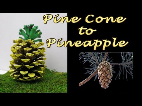 🍍Pine Cone to a Pineapple🍍 Fast and Easy Craft
