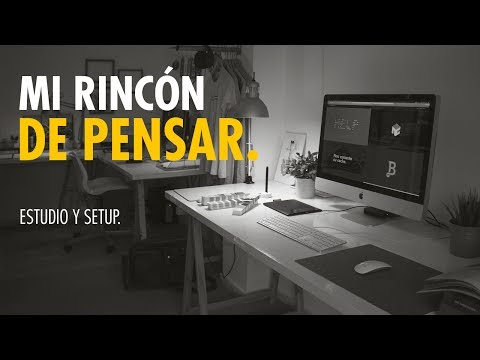 Estudio y setup de un diseñador gráfico freelance // Marco Creativo