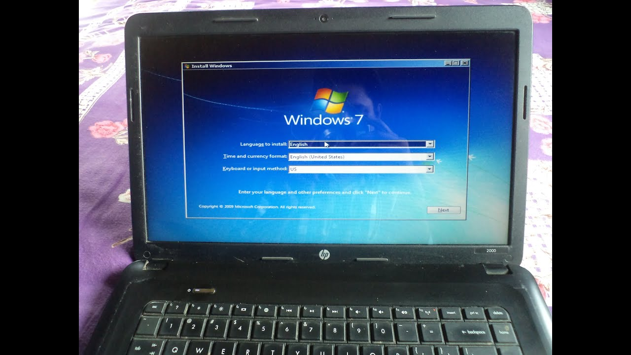 format laptop hp