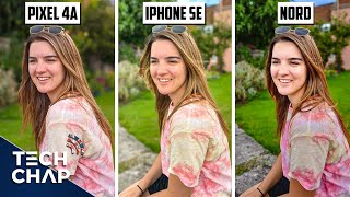 Pixel 4a vs iPhone SE vs OnePlus Nord CAMERA Comparison! | The Tech Chap