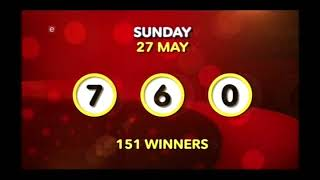 Powerball and Powerball Plus Draw 889 (29 May 2018)