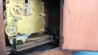 Kienzle Whittington Chime Antique Mantel Clock Germany Shelf
