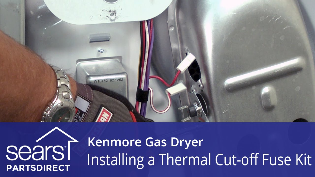 how to replace a kenmore gas dryer thermal cut-off fuse ... whirlpool gas dryer fuse box dryer fuse box configuration