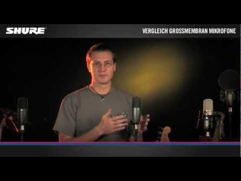 Vergleich: Shure Großmembran-Kondensatormikrofone