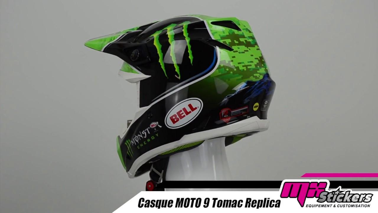 Casque Cross Bell Moto 9 Mips Tomac Replica Mx Stickers