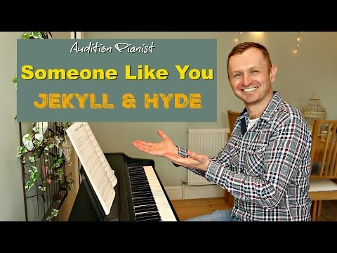 Someone Like You: JEKYLL & HYDE  (Piano Backing / Instrumental / Karaoke Track)