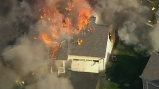 Violent explosion: Fire causes house to explode in New Hampshire