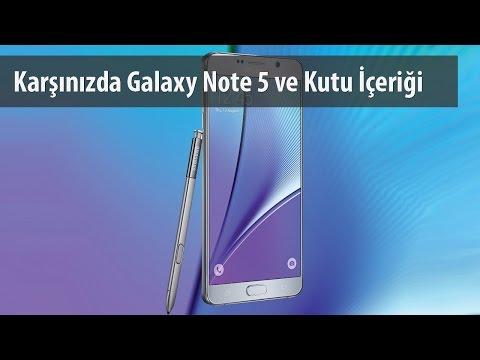 Samsung Galaxy Note 5 Kutusundan Çıkıyor
