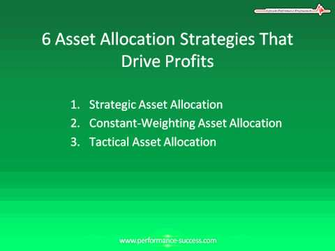 Six Asset Allocation Strategies That Drive Profits