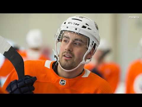 Edmonton Oilers rookie Evan Bouchard makes NHL debut in Sweden
