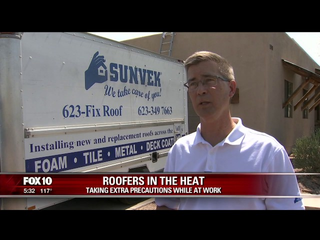 Sunvek - FOX10 - Roofers Safety In Extreme Heat