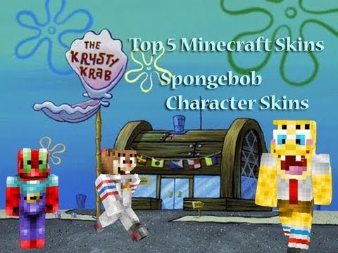 Top 5 Minecraft Skins Spongebob Squarepants Cartoon Character Minecraft Skins