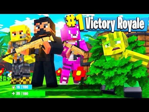 #1 EPISCHER SIEG Als BUSCH?! - Minecraft FORTNITE: BATTLE ROYALE