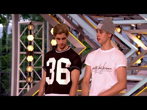 Pretty Boy Karma: Justin Bieber Wanna-be Twins Do Justin Beiber! | Auditions | The X Factor UK 2017