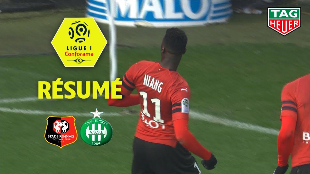 Stade Rennais FC - AS Saint-Etienne ( 3-0 ) - Résumé - (SRFC - ASSE) / 2018-19 #1