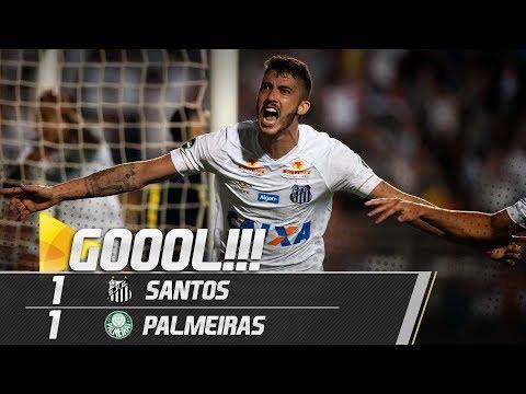 Santos 1 x 1 Palmeiras | GOL | Brasileirão (19/07/18)