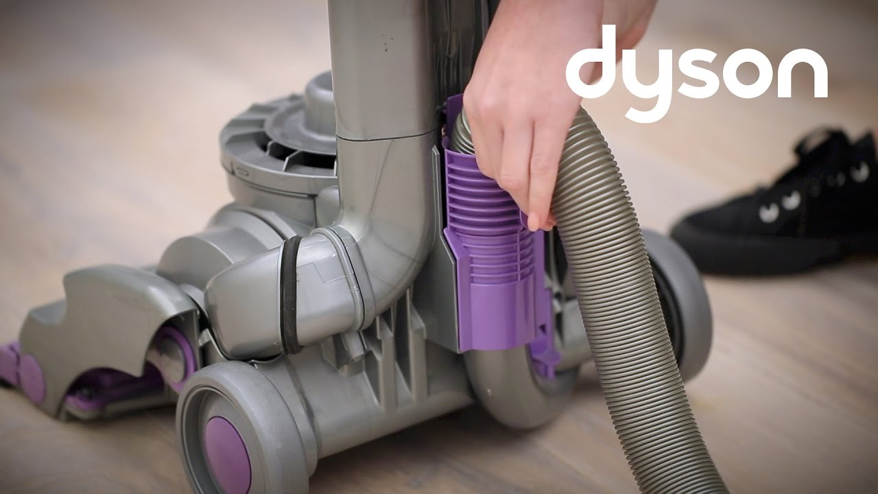 Dyson Dc14 Upright Vacuums Replacing The Hose Us Youtube Diagram Parts List For Model Dysonincparts Vacuumparts