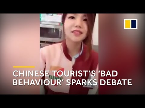 Chinese tourist's 'bad behaviour' sparks debate