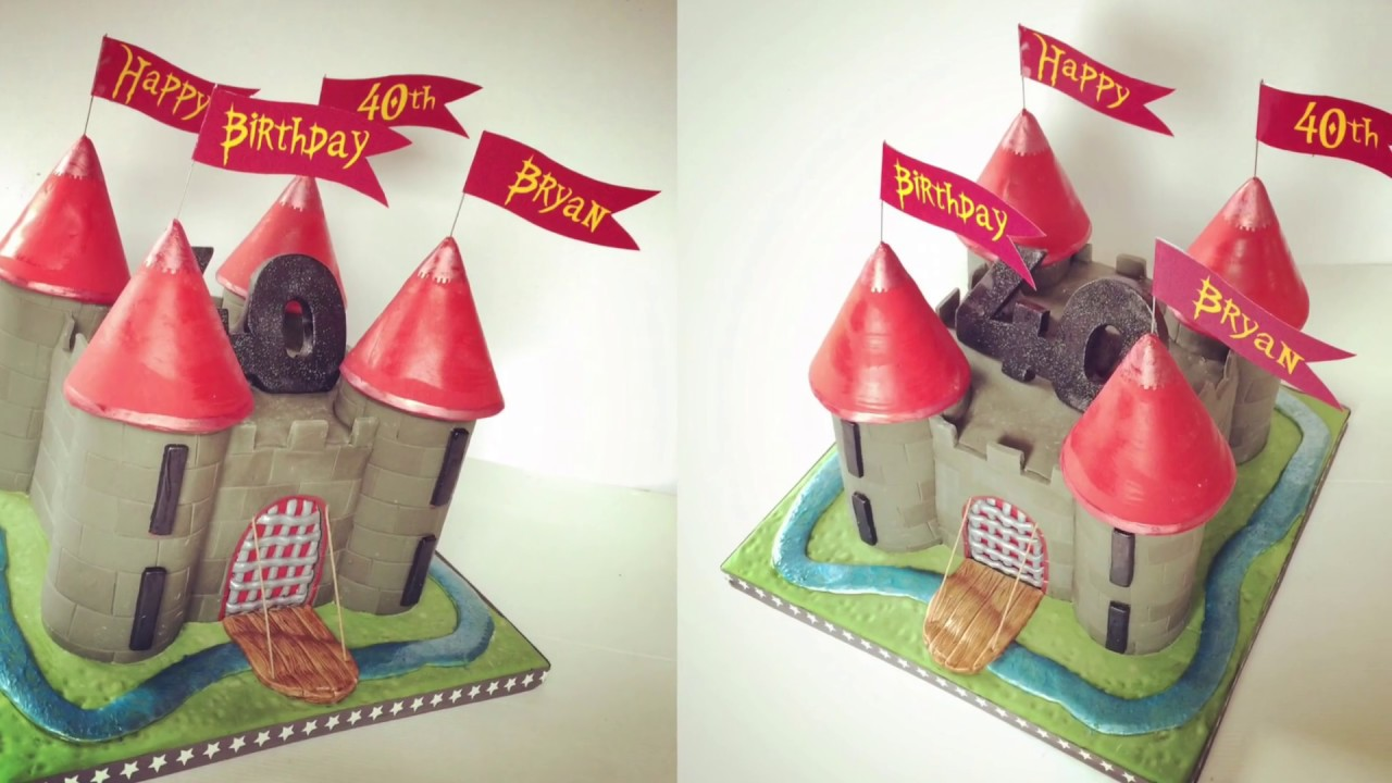 how to make a castle cake - medieval castle cake - youtube