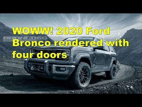 WOWW! 2020 Ford Bronco rendered with four doors