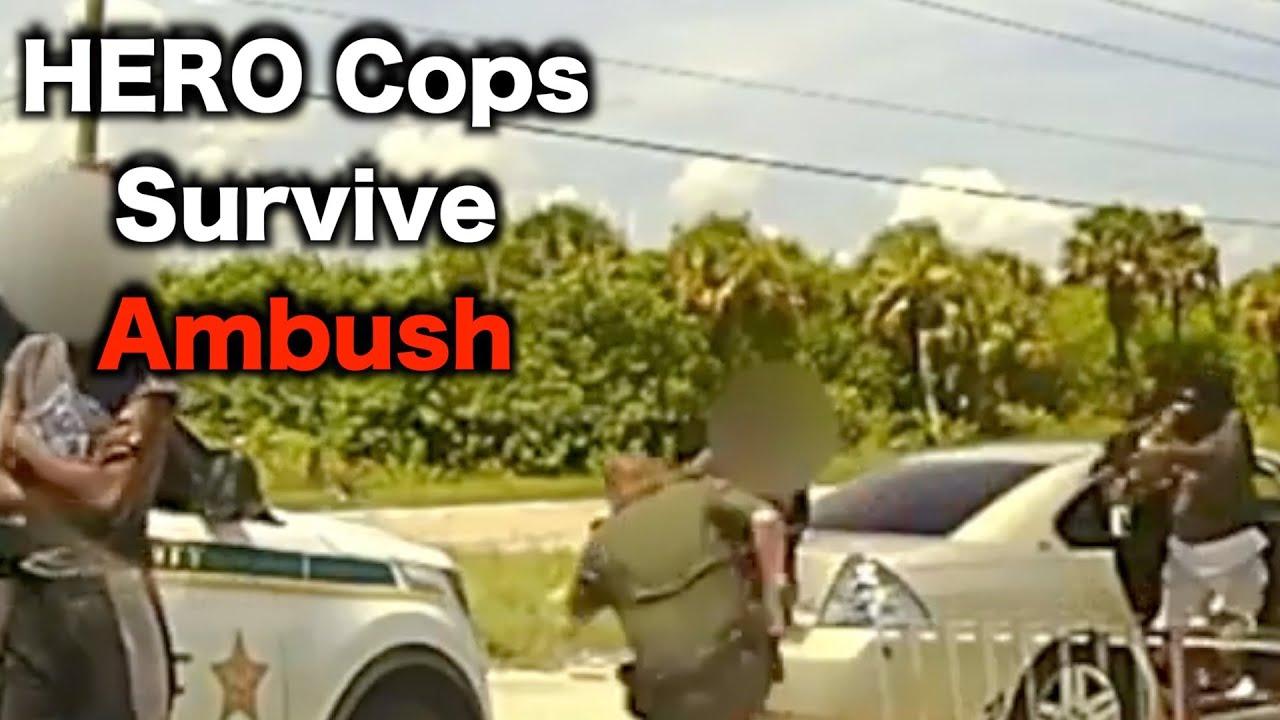 Cops Barely Escape Ambush