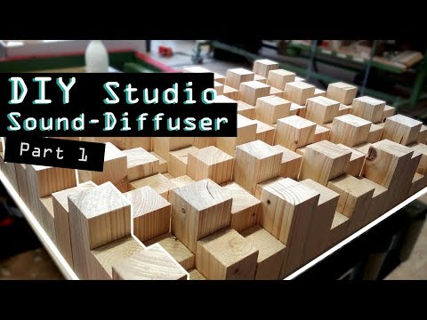 How to build a Sound Diffuser out of Wood - DIY Studio  Part 1