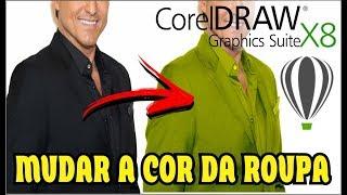 COMO MUDAR COR DE ROUPA NO COREL DRAW