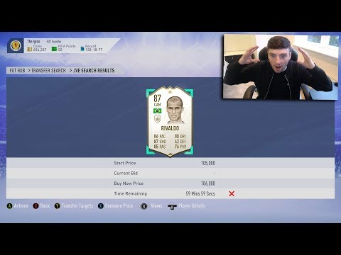 FIFA 19  *MIN PRICE* BRAZILIAN ICON 😱  ICON SNIPING  SNIPING REACTIONS EP8 ✅