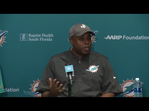 Dolphins Live: Mike Tannenbaum and Chris Grier address the media prior to the 2018 Draft.