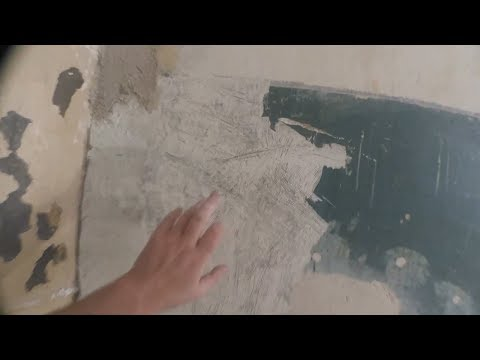 11. ПВА и цемент смесь. Адгезив самодельный. Как шпаклевать на краску. Реставрация старого дома.