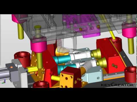 Animation of an Injection Mold design using KeyCreator Direct CAD