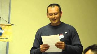 Английский в Киеве: Toastmasters Ukraine English Speaking Club, Kiev 2014: Alex: Speech at Stage(VIDEO LINK = http://youtu.be/ABBEg7QHwtM Alexander: SPEECH at Table Topic Discussion at ChangeMakers Toastmasters English speaking Club in Kiev, ..., 2014-04-23T05:50:08.000Z)