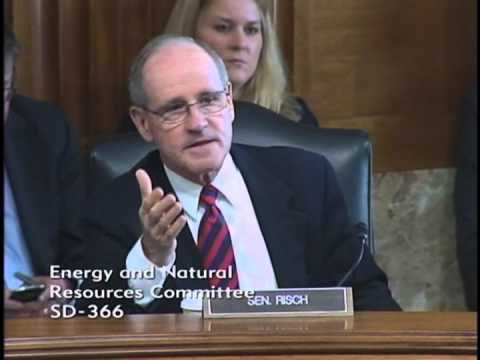 Risch Discusses PURPA at Senate Energy Committee Hearing